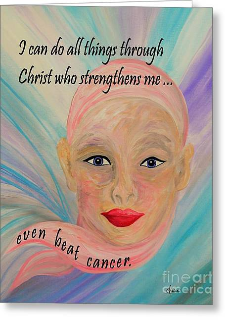 All Things Even Cancer Greeting Card