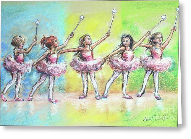 All Together Now...first Ballet Recital Greeting Card by Laurie Shanholtzer