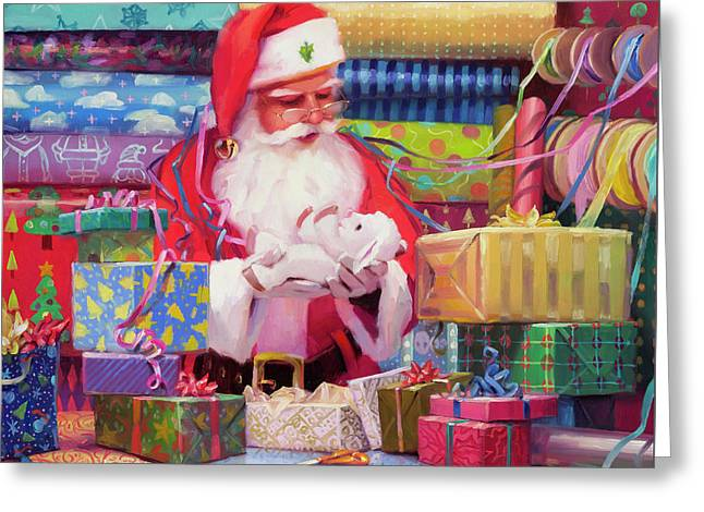 All Wrapped Up Greeting Card by Steve Henderson