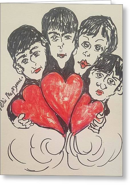 All You Need Is Love Beatles Greeting Card by Geraldine Myszenski