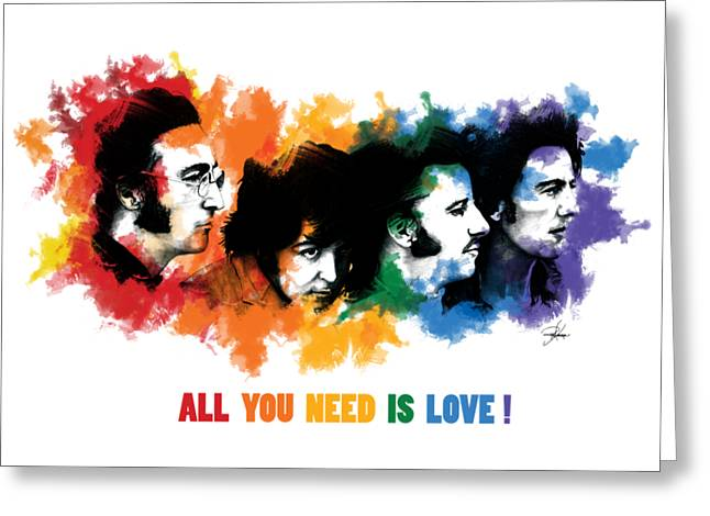 All You Need Is Love Greeting Card by Ryan Anderson