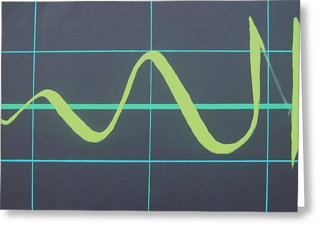 Art In Acrylic Greeting Cards - Allah in cardiograph Greeting Card by Faraz Khan