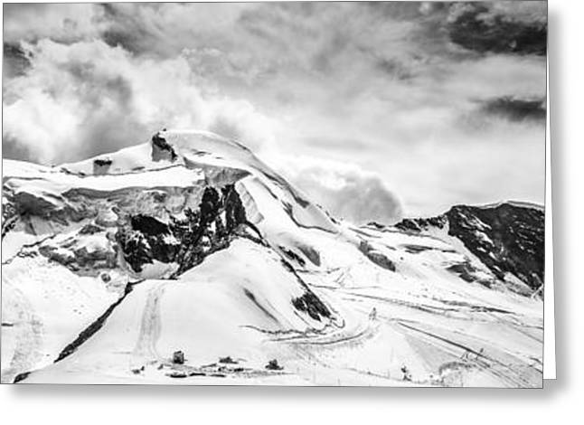 Greeting Card featuring the photograph Allalin Panorama by James Billings