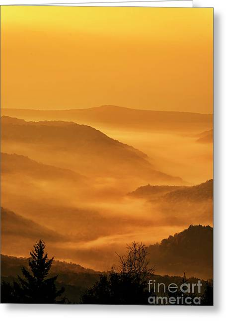 Allegheny Mountain Sunrise Vertical Greeting Card