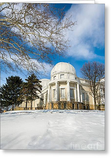 Allegheny Observatory Greeting Card by Amy Cicconi