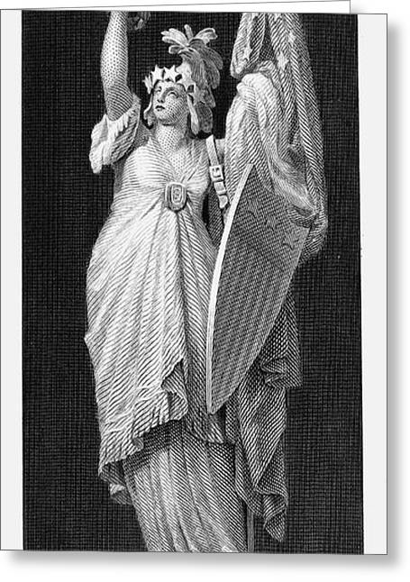 Allegory: Columbia, 1870 Greeting Card by Granger