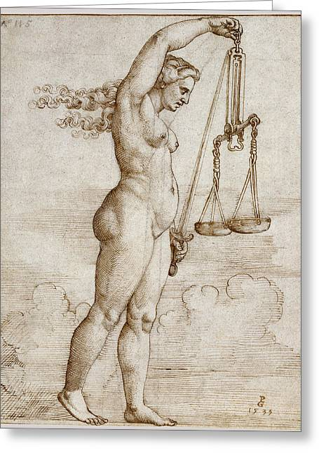 Allegory Of Justice Greeting Card