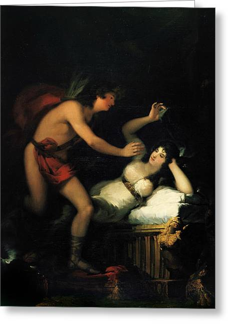 Allegory Of Love, Cupid And Psyche Greeting Card