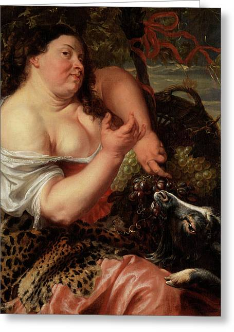 Allegory Of Luxuria Greeting Card