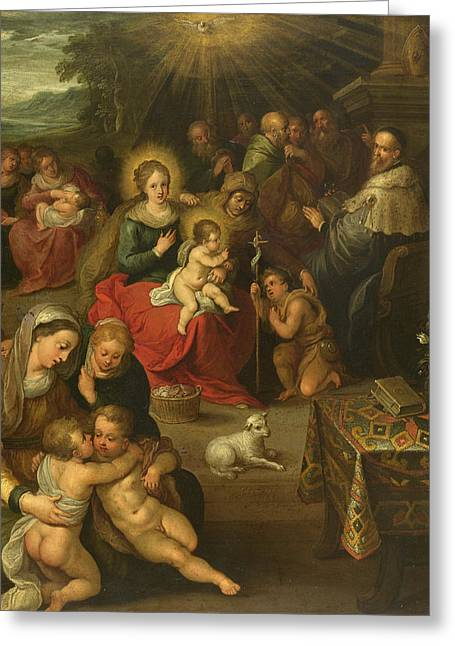 Allegory Of The Christ Child As The Lamb Of God Greeting Card by Frans Francken the Younger