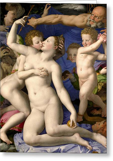 Allegory Of The Triumph Of Venus Greeting Card