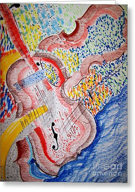 Allegro  By Mozart Greeting Card by Geraldine Liquidano
