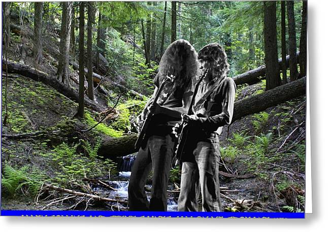 Greeting Card featuring the photograph Allen And Steve On Mt. Spokane by Ben Upham