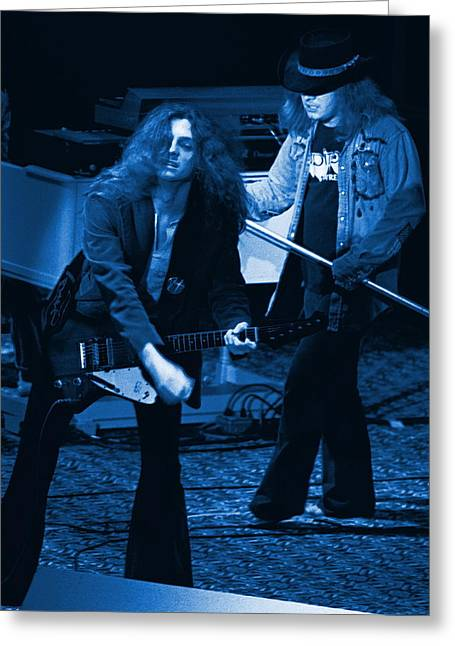 Allen Collins And Ronnie Van Zant Same Old Winterland Blues Greeting Card