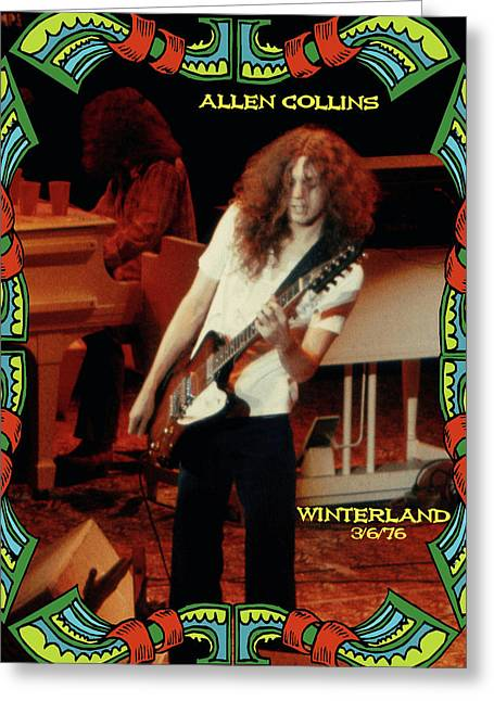 A C Winterland 1976 Greeting Card