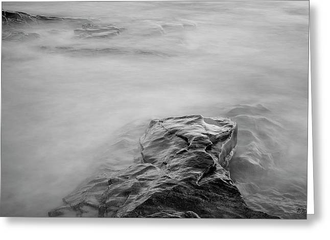 Greeting Card featuring the photograph Allens Pond Xii Bw by David Gordon