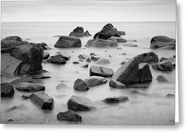 Greeting Card featuring the photograph Allens Pond Xiv Bw by David Gordon