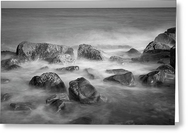 Greeting Card featuring the photograph Allens Pond Xix Bw by David Gordon