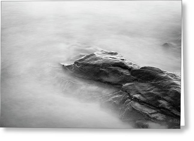 Greeting Card featuring the photograph Allens Pond Xv Bw by David Gordon