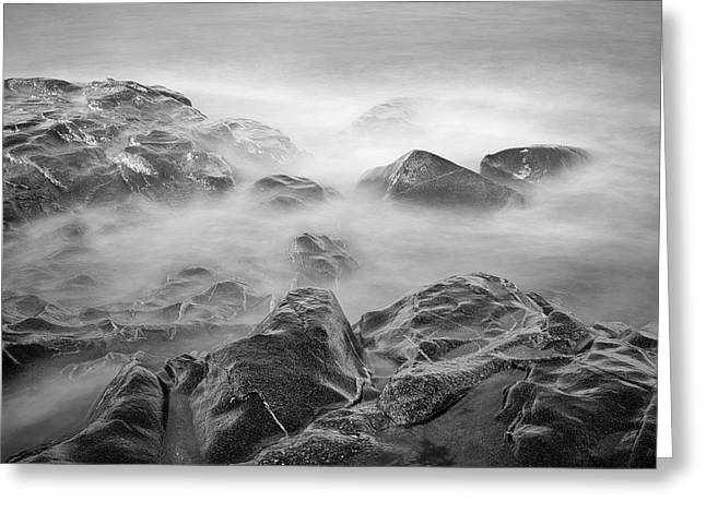 Greeting Card featuring the photograph Allens Pond Xvi Bw by David Gordon
