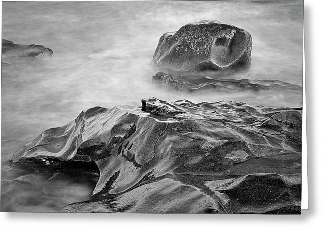 Greeting Card featuring the photograph Allens Pond Xvii Bw by David Gordon