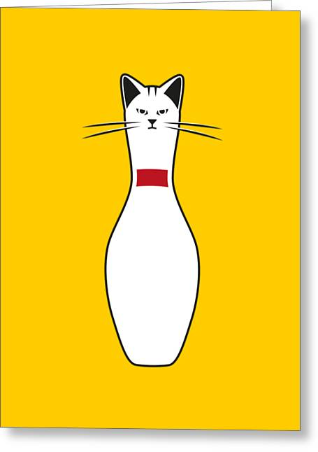 Alley Cat Greeting Card by Nicholas Ely