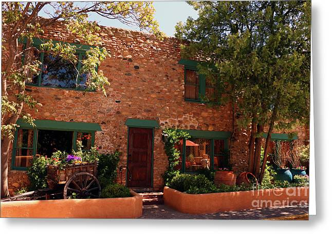 Alley In Old Town Santa Fe Greeting Card by Christiane Schulze Art And Photography