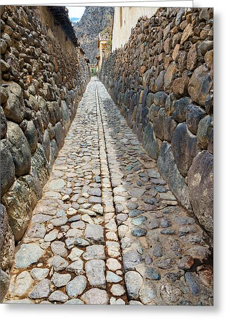 Alley In Ollantaytambo Greeting Card by Jess Kraft