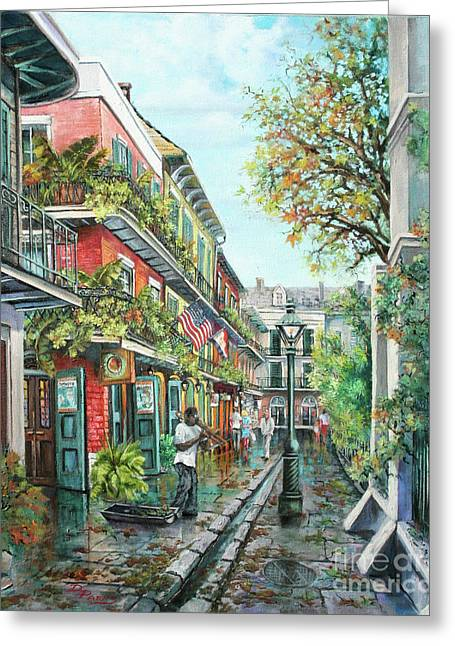 Alley Jazz Greeting Card