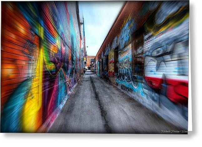 Greeting Card featuring the photograph Alley by Michaela Preston