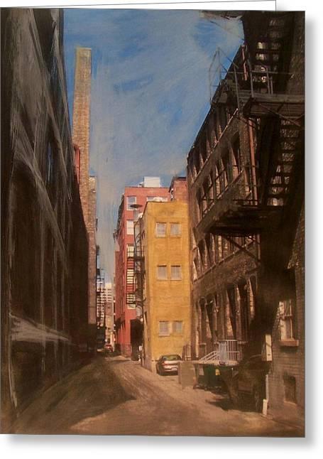 Alley Series 2 Greeting Card by Anita Burgermeister