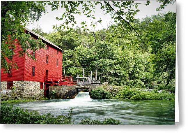 Alley Spring And Mill Greeting Card