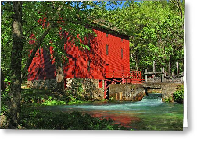 Alley Spring Mill Greeting Card
