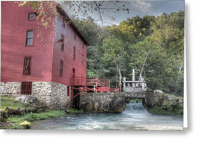 Alley Spring Mill Ozark National Scenic Riverway Greeting Card by Jane Linders