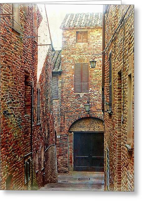 Alley View 1 Citta Della Pieve, Umbria Greeting Card by Dorothy Berry-Lound