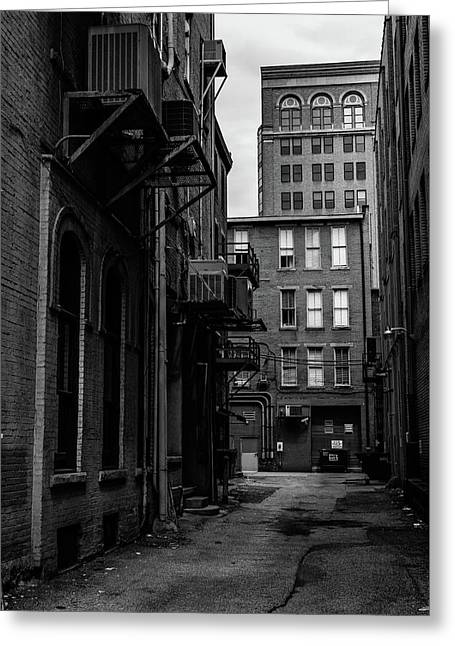 Greeting Card featuring the photograph Alleyway I by Break The Silhouette