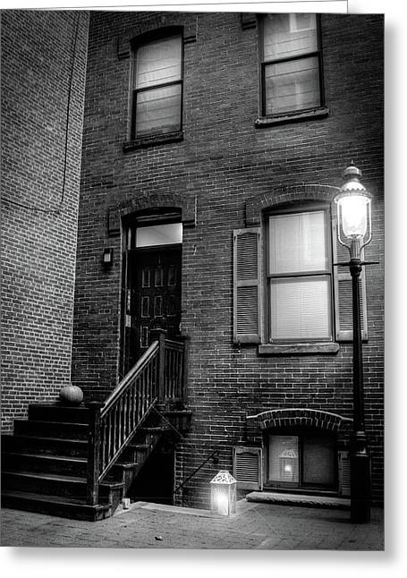 Alleyway In Boston - North End Greeting Card by Joann Vitali