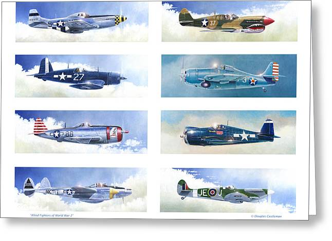 Allied Fighters Of The Second World War Greeting Card