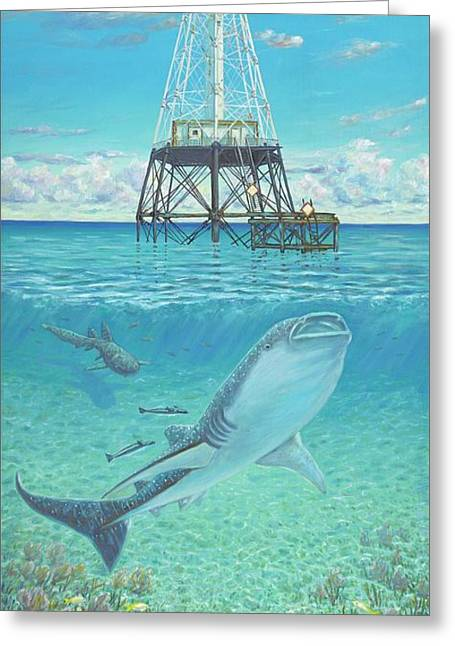 Alligator Reef Lighthouse Greeting Card by Danielle Perry