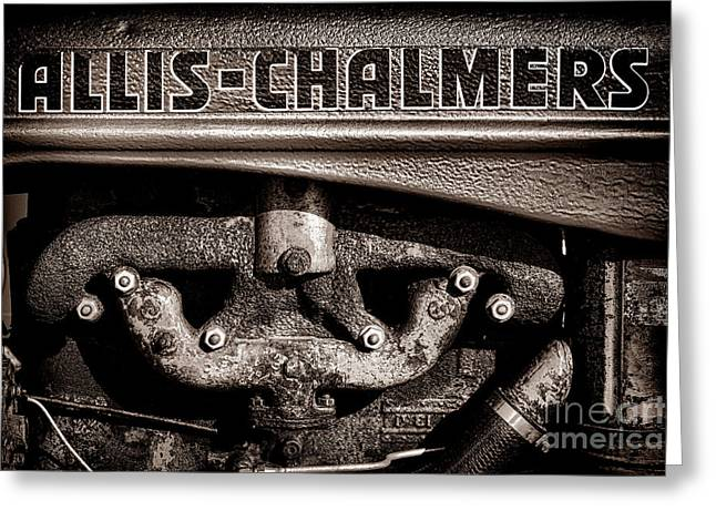 Allis Chalmers Grunge Greeting Card
