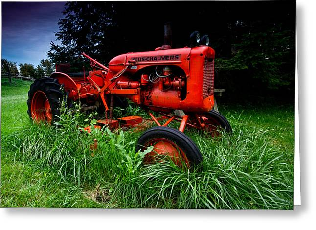 Allis Chalmers Tractor Greeting Card by Cale Best