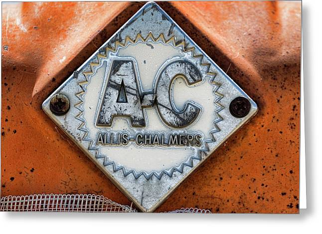 Allis-chalmers Vintage Logo Greeting Card