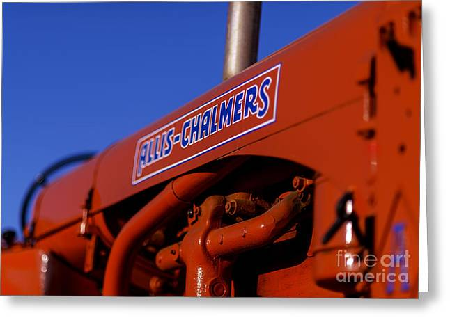 Allis-chalmers Vintage Tractor Greeting Card