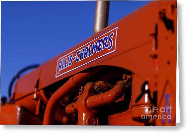 Allis-chalmers Vintage Tractor Greeting Card