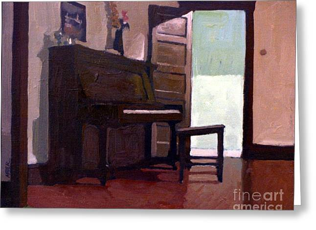 Allison's Piano Greeting Card by Donald Maier