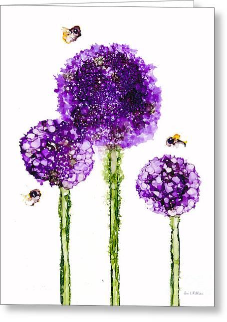 Alliums Humming Greeting Card