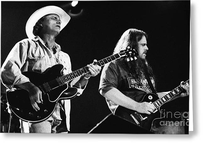 Allman Brothers-dickey-warren-0164 Greeting Card by Gary Gingrich Galleries