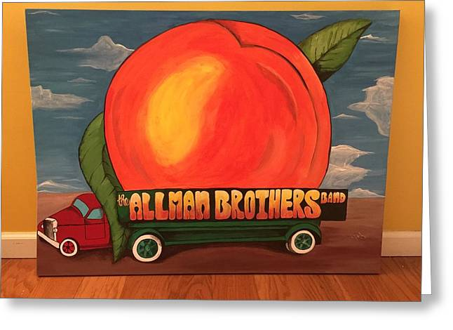Allman Brothers Eat A Peach Greeting Card