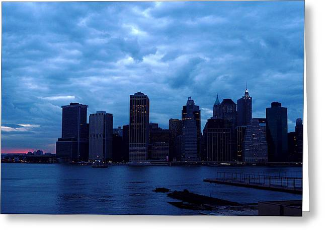 All's Quiet In Lower Manhattan Greeting Card