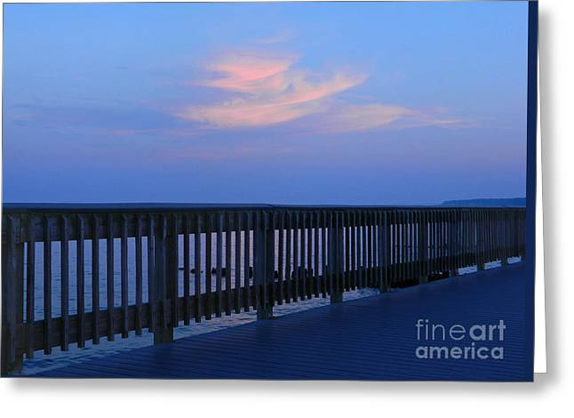 Greeting Card featuring the photograph Alls Quiet On The Beach Front by Emmy Marie Vickers
